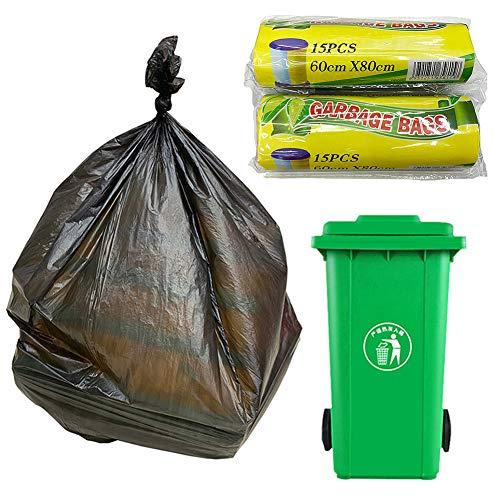Moares Lot de 15 sacs poubelle jetables 60 x 80 cm Black