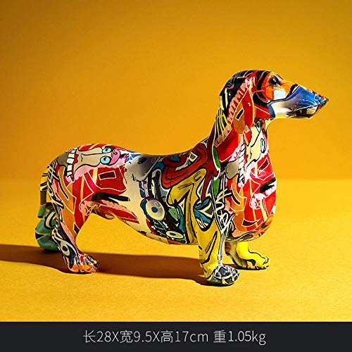 AIJOAN-BJ Statuen Skulpturen Farbe Hund Tier Dekoration Tv-Schrank Weinschrank Elefant Skulptur Statue Home Decoration