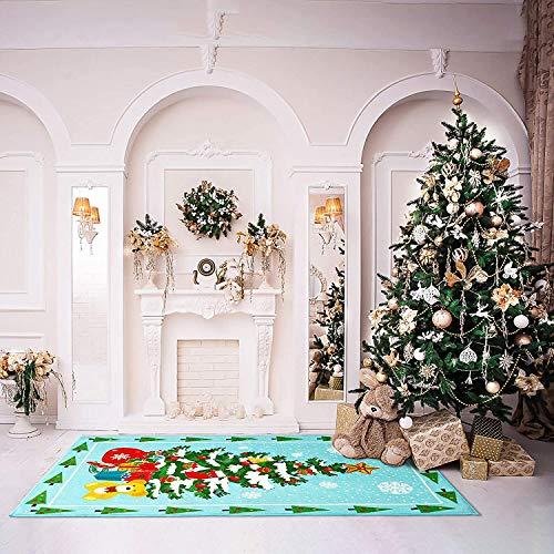 Terrug Christmas Tree Rugs Outdoor Indoor Rug for Bedroom Living Room ,Non-Slip Door Mat Xmas Floor Rugs for Kitchen Festival Decoration Gifts, 2' x 6',Tree