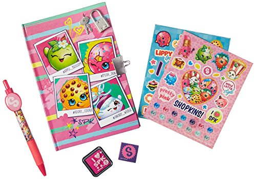 Shopkins Girls Diary With Pen, Lock, Key, Stamp and Stickers - Keepsake Memories by Innovative Designs