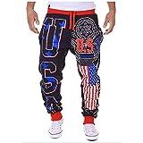 N/ A Cordon de Serrage pour Hommes Drapeau américain USA Pantalon de...