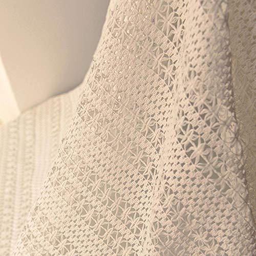 Zzxx 155x50cm rood katoen kant geweven doek jurk decoratieve sjaal stof