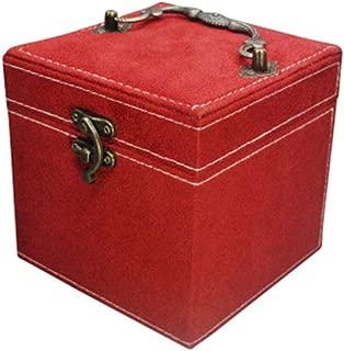 Jewelry Storage Box with Mirror Jewelry Box Multi-Function Jewelry Box(Red One Size)