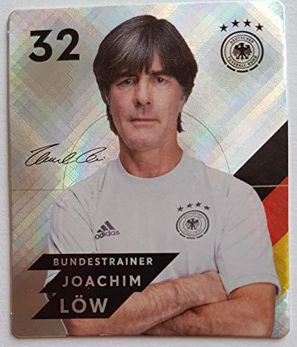 Rewe EM 2020 DFB - Sammelkarten - Glitzer - Nr. 32 - Joachim Löw + 1 toysagent Sonderkarte