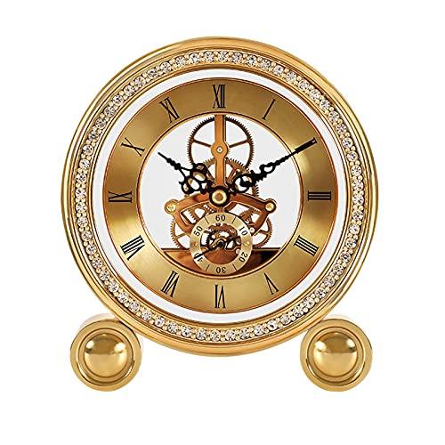 GUOQI Modern spiselklocka, dekorativ klocka, tyst urverk, diamantformad dekoration, lämplig för vardagsrum, studierum, kontor, etc