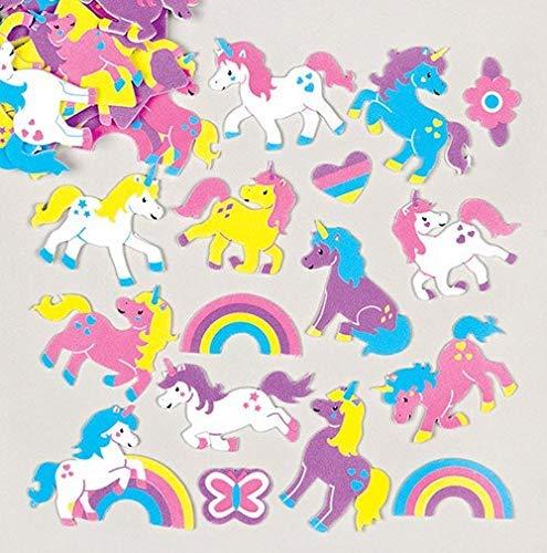 Baker Ross Regenboog Eenhoorn Foam Stickers (Pak van 120) voor kinderen te versieren, kunst en ambachten