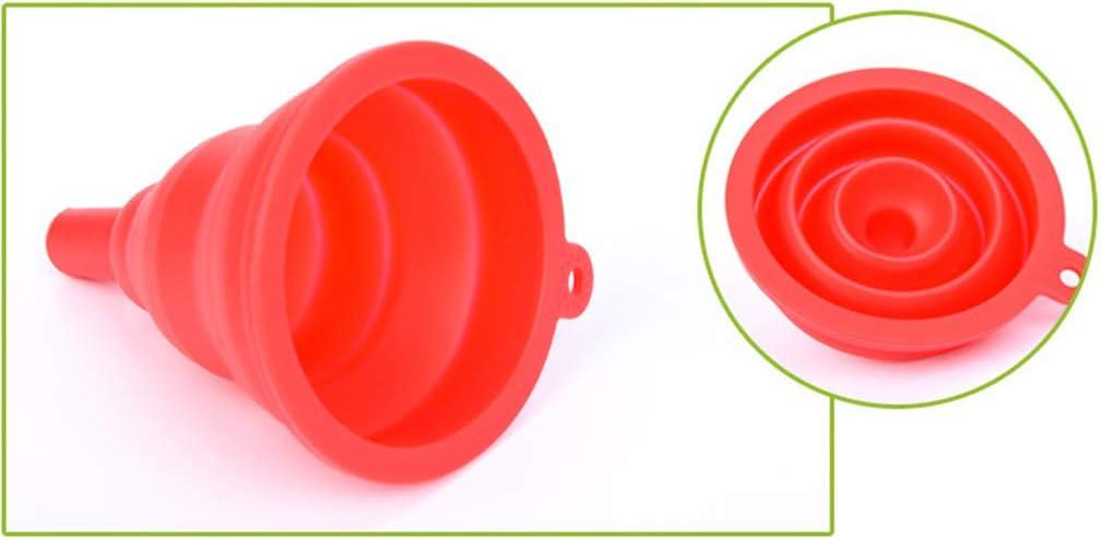 RG-FA Multifunktionaler faltbarer Küchenfilter, Trichter, herausnehmbarer Siebeinsatz rot Grün