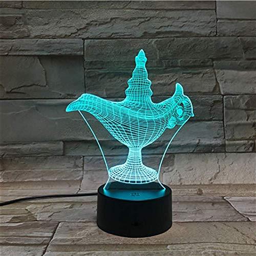 Night Light His Wonderful Lamp Lámpara 3D colorida con control remoto Presente único para adolescente Lámpara de luz nocturna LED Holograma de luz nocturna