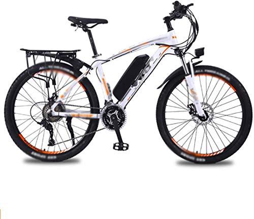 RDJM Bici electrica, 26 Pulgadas Bicicletas eléctricas Bicicleta de la montaña, batería 36V13A de Litio de la Bici 350W Motor LED Faros Bicicletas (Color : Orange)