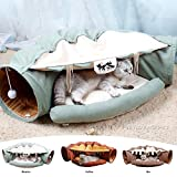 myidea cat tunnel nest - foldable soft toy bed big passage two cats play together (cat tunnel,