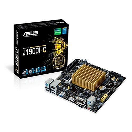 Asus J1900I-C Mainboard (Mini-ITX, Intel Celeron J1900, 2x DDR3 Speicher, 2x SATA 3Gb/s, 1x USB 3.0, 4x USB 2.0, PCIe 2.0)