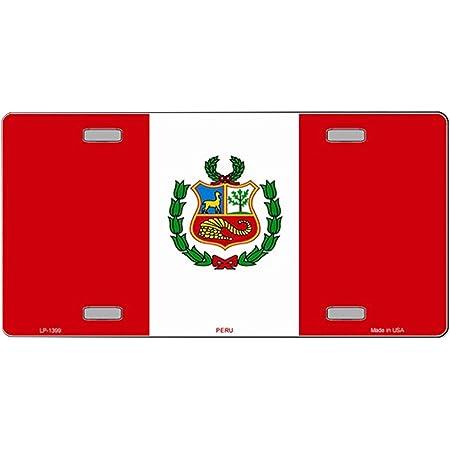 informafutbol.com PERU FLAG METAL ALUMINUM CAR LICENSE PLATE TAG ...