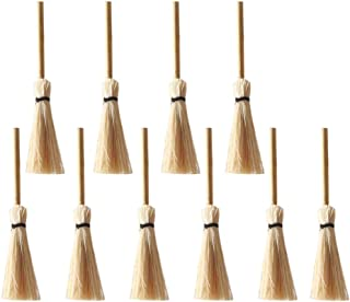 TOYANDONA 12Pcs Halloween Witch Broom Witch Broomstick Cosplay Broom Props Wizard Flying Broom Stick Accessory for Costumes