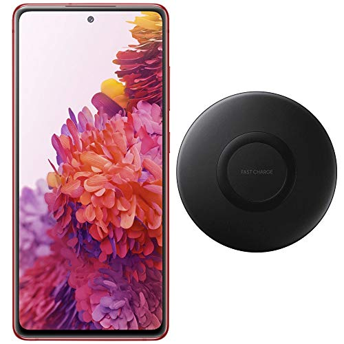 """Price comparison product image Samsung Galaxy S20 FE (128GB,  6GB) 6.5"""" 120Hz AMOLED,  Snapdragon 865,  IP68 Water Resistant,  Dual SIM GSM Unlocked (Global 4G LTE) International Model SM-G780G / DS (Wireless Charger Bundle,  Red)"""