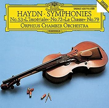 """Haydn: Symphonies Nos.53 """"L'Impériale"""", 73 """"La Chasse"""" & 79"""