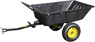 Polar Trailer LG600 Hybrid Trailer Heavy Duty Dump Cart Hand Trailer Compatible to Pull Behind John Deere/Cub Cadet Lawn Mowers and Tractors