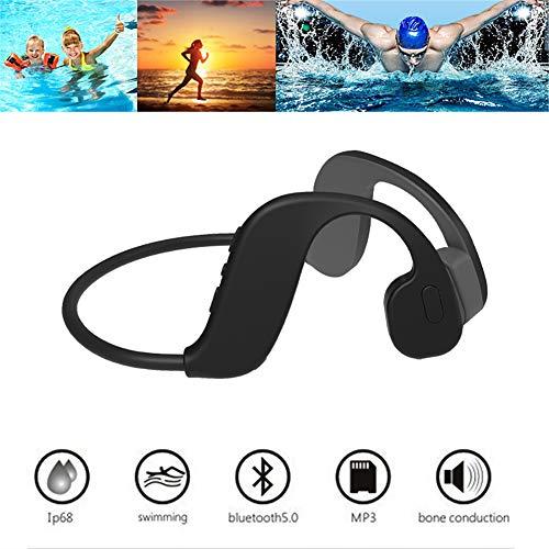 RSGK - Auriculares de natación de conducción ósea Bluetooth 5.0, almacenamiento integrado 32 G, utilizados para gimnasio, inmersiones subacuáticas, surf, reproductor MP3 impermeable IP68