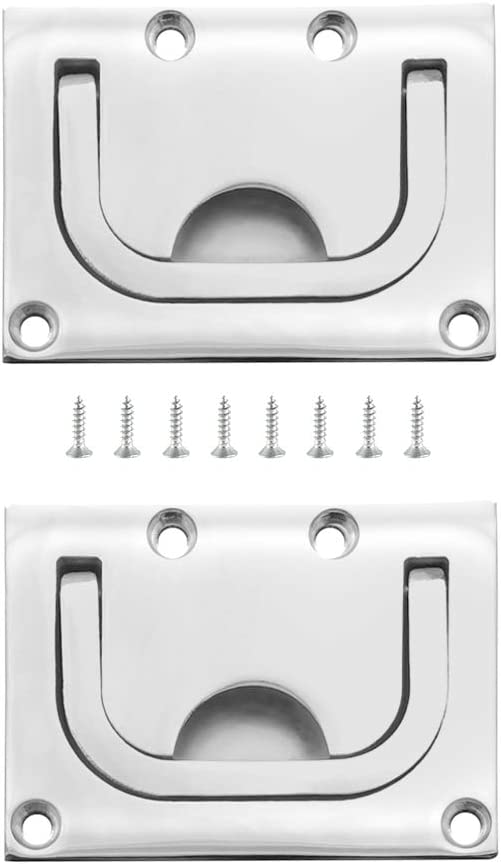 TEANTECH 316 New product!! Stainless Steel Hatch Pull Ring Boat Hat Lift Flush Popular shop is the lowest price challenge