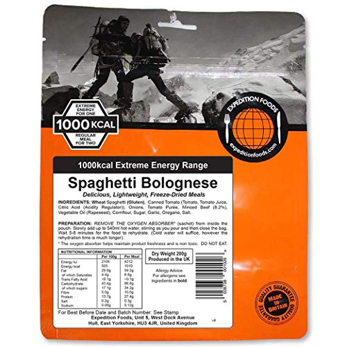 EXPEDITION FOODSexpeditionfoods.com Food Spaghetti Bolognese (1000kcal) -Freeze Dried Meal
