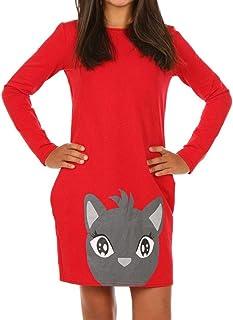 Dykmod Vestido de niña con estampado de camuflaje para otoño o escuela 116-152
