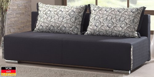 VCM Sofa Couch Jack, 85 x 202 x 95 cm, Schaumstoff / Mikrofaser