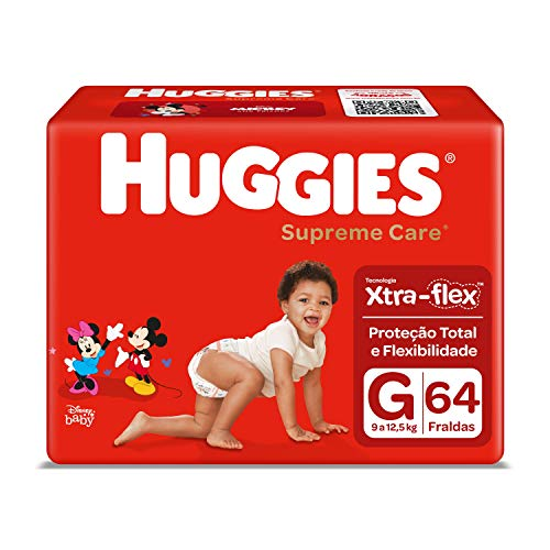 Fralda Huggies Supreme Care, 64 Unidades