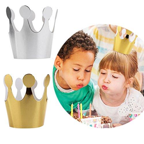 Geburtstags-Krone aus Papier, Prinzessin, Partygeschenk für Kinder, 10 Stück