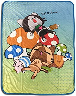 Great Eastern Entertainment Monster Hunter: Airou & Merorou Sleeping Time Throw Blanket, 46