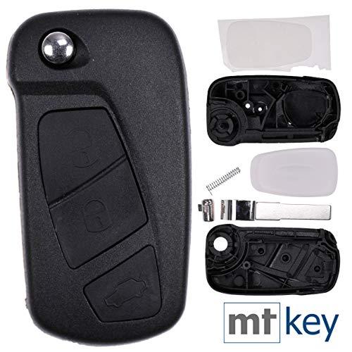 Auto Klapp Schlüssel Gehäuse kompatibel mit Ford Ka RU8 2008-2016 Fernbedienung Rohling