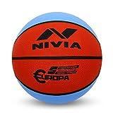 Nivia 633 Rubber Europa Basketball, Size 5 (Multicolour)