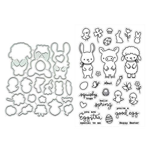 WuLi77 Transparente Silikon-Stempel mit Schwein-Schaf für Kartenherstellung, Schablonen, DIY, Prägung, Fotoalbum, Kunst, handgemachtes Geschenk, Scrapbooking