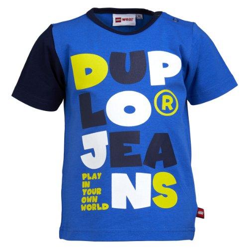 Lego Wear - T-Shirt - Bb Garon - Bleu (554 Medium Blue) - FR : 12 mois (Taille fabricant : 80)