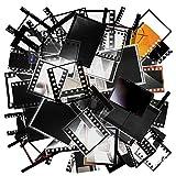 100 Blätter Retro Kamera Filmaufkleber Dekorativer