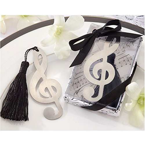 BERON Metal Music Bookmark with Elegant Silk Tassel (Set of 24)