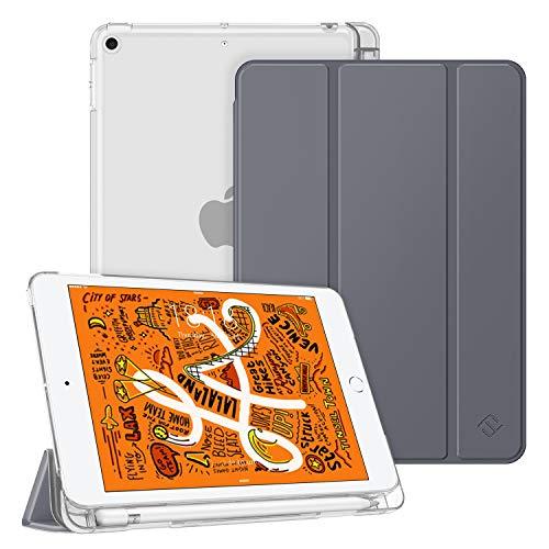 Fintie Hülle mit Pencil Halter für iPad Mini 5 2019 - Superdünne Superleicht Schutzhülle mit durchsichtiger Rückseite Abdeckung mit Auto Schlaf/Wach für 2019 iPad Mini (5. Generation), Himmelgrau
