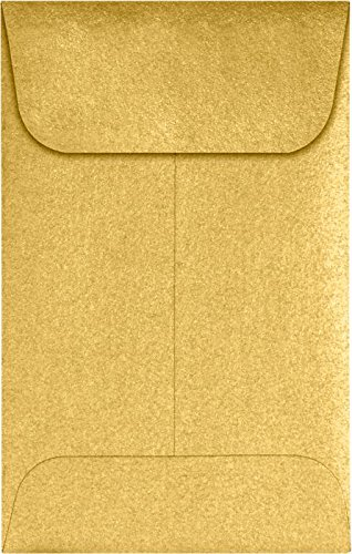 #1 Coin Envelopes (2 1/4 x 3 1/2) - Gold Metallic (250 Qty.) | Perfect for the HOLIDAYS, Weddings, Parties & Place Cards | Fits Small Parts, Stamps, Jewelry, Seeds | 1COGLD-250