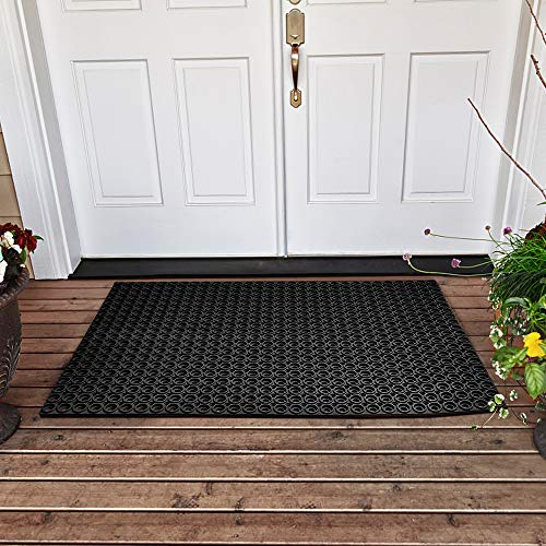 YOSHIKO Rubber Outdoor Mat Anti-Fatigue Floor Mats for Kitchen 23' x 35' Restaurant Bar Floor Mat New Garage Garden Commercial Indoor Outdoor Mat Black
