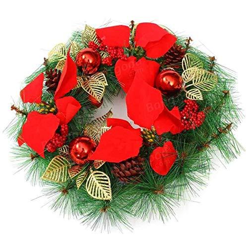 Zjcpow Guirnalda de Navidad para decoración de puertas de árbol de Navidad