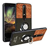 Alapmk Compatible with Nokia 6.1 Case,Pattern Design [360°Kickstand], TPU Protective Phone Case Cover for Nokia 6.1 2018,Do not Touch