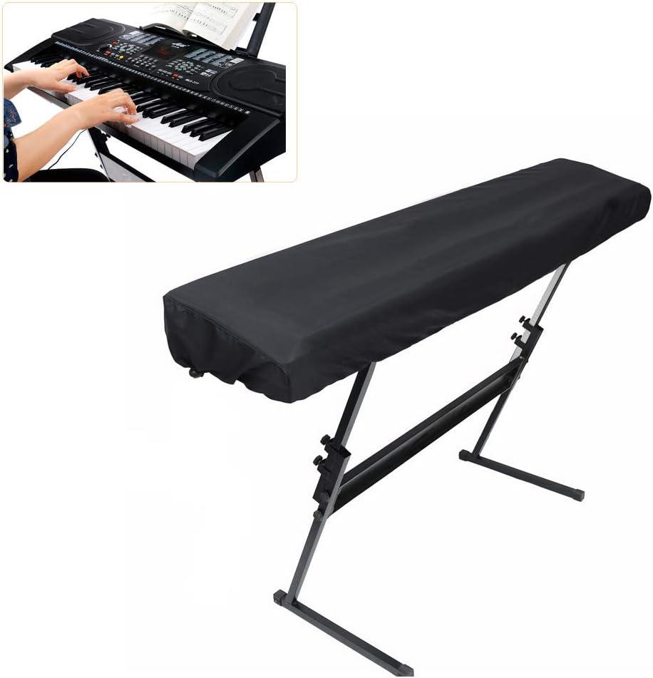 ELR Funda para teclado de piano con cordón elástico a ...