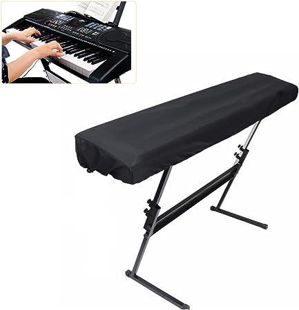 ELR Funda para teclado de piano con cordón elástico a prueba ...