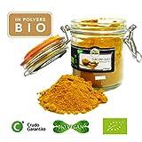 Curcuma in Polvere Bio Cruda, Turmeric Powder Raw Organic - 150gr - Biologica, 100% pura e...