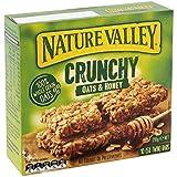 Nature Valley Barras de cereales crujientes 100% copos de avena de grano entero y miel sin colorantes ni conservantes Sin lactosa Apto para vegetarianos - 1 x 210 gramos (10 barras)