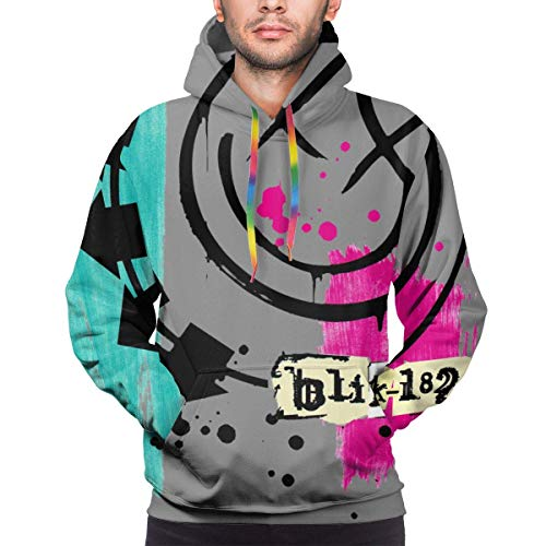 xinfub Blink 182 3D Pullover Hoodies Mode Sweatshirt Lässige Hoody Tops mit Tasche für Männer