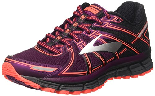 Brooks Women's Adrenaline ASR 14 Running Shoe, Black/Ebony/Pickled Beet, 8.5 US