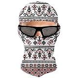 N/A - Maschera integrale con motivo pixel ungheresi, per protezione solare a punto croce, doppio strato freddo per uomini e donne