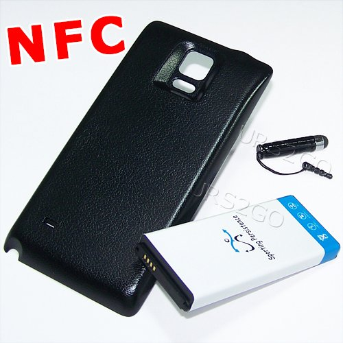 [Galaxy Note 4 NFC Extended Battery] High Power 11900mAh NFC Extended Double Layer Battery Thicker Back Cover Stylus for Samsung Galaxy Note 4 SM-N910V Verizon Phone
