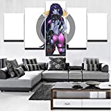 WYJIE 5 Panel Sexy Widowmaker Overwatch Game Painting Modern Home Wall Decorative Canvas Picture Art HD Impreso Painting Canvas ArtNo Framed20x35cm20x45cm20x55cm