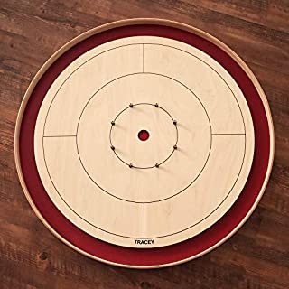 Red Tournament Board Crokinole Set (Meets NCA Standards)