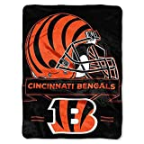 Officially Licensed NFL Cincinnati Bengals 'Prestige' Plush Raschel Throw Blanket, 60' x 80', Multi Color
